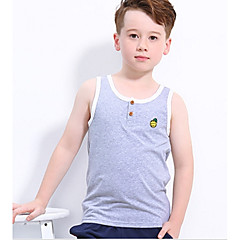 billige Overdele til drenge-Børn Drenge Aktiv Sport Geometrisk Uden ærmer Bomuld T-shirt