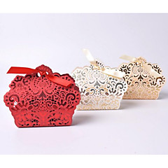 cheap Wedding Favors-Others irregular Cardboard Favor Holder with Sashes/ Ribbons Favor Boxes - 10