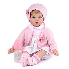 ieftine Păpuși, Seturi de jucării și Animale umplute-NPK DOLL Păpuși Renăscute Bebe Fetiță 20 inch Silicon / Vinil - natural, Mâini aplicate manual, Cuie cu buzunare și sigilate Lui Kid Unisex Cadou / Tonul natural al pielii / Floppy Head
