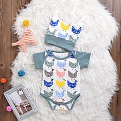 billige Babytøj-Baby Pige Simple / Aktiv Dyr Kort Ærme Bomuld Bodysuit