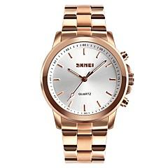 2f16b6c82ce SKMEI Mulheres Casal Relógio Casual Relógio de Moda Relógio Elegante  Japanês Quartzo Preta   Prata   Dourada 30 m Impermeável Mostrador Grande  Analógico ...
