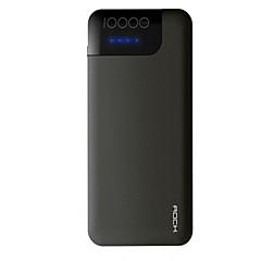 billige Eksterne batterier-10000 mAh Til Power Bank Eksternt batteri 12 V Til Til Batterilader med kabel / QC 2.0 LED