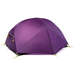 billige Telt og ly-Naturehike 2 personer Telt Dobbelt camping Tent Ett Rom Turtelt Velventilert Vanntett Vindtett Ultraviolet Motstandsdyktig Regn-sikker til