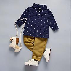billige Tøjsæt til drenge-Baby Drenge Basale I-byen-tøj Ensfarvet / Galakse / Trykt mønster Trykt mønster Langærmet Bomuld Tøjsæt / Sødt