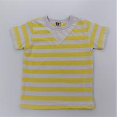 baratos Roupas de Meninos-Para Meninos Camiseta Diário Listrado Estampa Colorida Verão Algodão Manga Curta Simples Casual Verde Amarelo