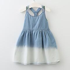 baratos Roupas de Meninas-Menina de Vestido Diário Para Noite Sólido Estampado Primavera Verão Acrílico Poliéster Sem Manga Activo Boho Azul