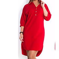 Damskie Koszula Sukienka - Jendolity kolor, Sukienka prosta
