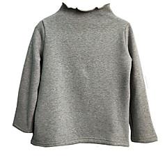 billige Sweaters og cardigans til piger-Pige Trøje og cardigan Daglig Ensfarvet, Polyester Forår Langærmet Kamel Navyblå Gul Vin Lysegrå