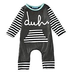 cf389c150c6 Μωρό Αγορίστικα Απλός Καθημερινά / Αργίες Ριγέ Κομψό Μισό μανίκι Βαμβάκι  Ολόσωμη Φόρμα & Φόρμες Σκούρο γκρι / Νήπιο