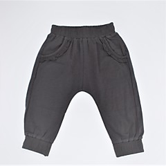 billige Bukser og leggings til piger-Spædbarn Pige Afslappet / Basale Ensfarvet Drapering Bomuld Bukser