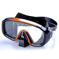 billiga Dykmasker, snorklar och simfötter-Snorkelmask / Simglasögon Anti-Dimma, Professionell, Justerbar Simmning, Dykning Silikon - för Vuxen Brun