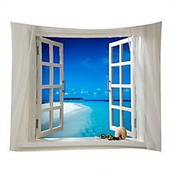 billige Veggdekor-Strand Tema Landskap Veggdekor 100% Polyester Moderne Veggkunst, Veggtepper av