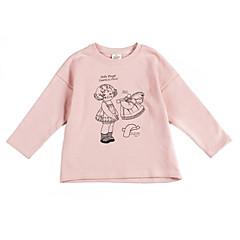 tanie Odzież dla dziewczynek-Dzieci Dla dziewczynek Nadruk Długi rękaw Bluza z kapturem / bluza / Urocza