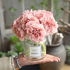 billige Kunstige blomster-Kunstige blomster 5 Gren Bryllup Bryllupsblomster Peoner Bordblomst