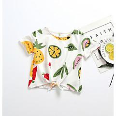 billige Babyoverdele-Baby Pige Geometrisk / Frugt Kortærmet Bomuld T-shirt / Sødt