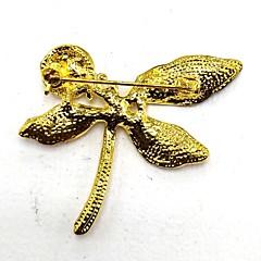 billige Motebrosjer-Dame Nåler Rhinstein Legering Blad Formet Gylden metallic Smykker Fest Kostyme smykker