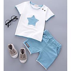 billige Babytøj-Baby Unisex Afslappet Galakse Kortærmet Bomuld Tøjsæt