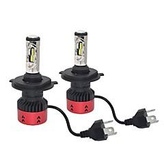baratos Faróis para Carros-2pcs H4 Carro Lâmpadas 70W LED Integrado 9600lm 4 LED Lâmpada de Farol For Universal Todos os Modelos Todos os Anos