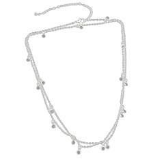 baratos Bijoux de Corps-Corrente para Cintura Rock Mulheres Dourado / Prata Bijuteria de Corpo Para Baile de Formatura / Bagels