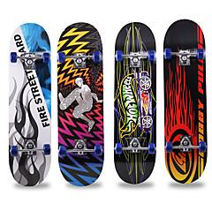 billige Skateboarding-31 Inch Standard Skateboards Ahorn By Anti-glide Sort Rød Blå Sort / Rød Blå / Hvid