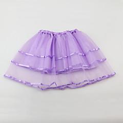 お買い得  女児 スカート-ソリッド 女の子の 日常 お出かけ ポリエステル 夏 ノースリーブ ドレス キュート 活発的 ルビーレッド ピンク パープル