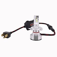 billige Frontlykter til bil-2pcs H4 Bil Elpærer 100W Integrert LED 10000lm 4 LED Hodelykt For Universell Alle Modeller