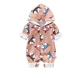 billige Babytøj-Baby Unisex En del Daglig Ferie Trykt mønster, Polyester Sommer Langærmet Sødt Aktiv Blå Grøn Kakifarvet