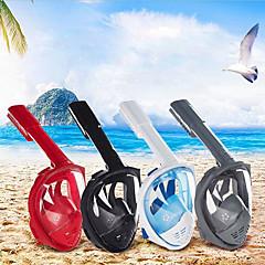 billiga Dykmasker, snorklar och simfötter-Dykmasker / Snorkelmask Anti-Dimma, Heltäckande ansiktsmasker, Under vattnet enda fönster - Simmning, Dykning, Snorkelfenor PP+ABS, Kiselgel - för Vuxen Svart / Röd / Blå