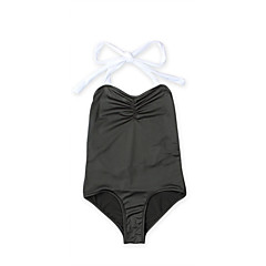 billige Badetøj-Baby Pige Vintage / Sexet Ferie / Strand Ensfarvet Uden ærmer Bomuld Badetøj