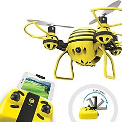 billiga Drönare och radiostyrda enheter-RC Drönare HASAKEE H1 4 Kanaler 6 Axel 2.4G Med HD-kamera 0.3MP 480P Radiostyrd quadcopter FPV / Huvudlös-läge / 360-Graders Flygning