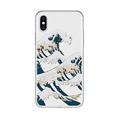billige Telefoner og nettbrett-Etui Til Apple iPhone X iPhone 8 Plus Mønster Bakdeksel Landskap Tegneserie Myk TPU til iPhone X iPhone 8 Plus iPhone 8 iPhone 7 Plus