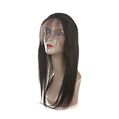 cheap Wigs & Hair Pieces-Laflare Peruvian Hair 360 Frontal Straight Free Part / Middle Part / 3 Part Swiss Lace Human Hair Women's With Baby Hair / For Black Women Party / Evening / Gift / Ceremony