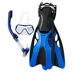 billiga Dykmasker, snorklar och simfötter-SBART Snorklingspaket / Dykning Paket - Dykmaske, Dykfenor, Snorkel - Torrdräkt – överdel, Långa simfenor Simmning, Dykning Silikon  För