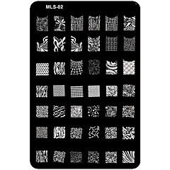 billiga Nagelvård och nagellack-1 pcs Nail Stamping Tool Mall Unik design / Tecknat Nail Art Design Jul / Bröllop / Födelsedag