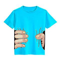 tanie Odzież dla dziewczynek-Dla obu płci Aktywny Nadruk Krótki rękaw T-shirt