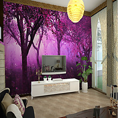 cheap -Purple Tree Large Wall Covering Mural Wallpaper Suitable for Office Bedroom Landscape