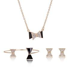 baratos Conjuntos de Bijuteria-Mulheres Conjunto de jóias - Vintage, Fashion Incluir Dourado Para Graduação Escola / Brincos