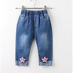 billige Jeans til piger-Børn Pige Aktiv Patchwork Patchwork Bomuld Jeans
