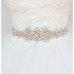 cheap Party Sashes-Satin / Tulle Wedding / Party / Evening Sash With Crystals / Rhinestones Women's Sashes
