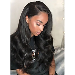 cheap Synthetic Lace Wigs-Synthetic Wig / Synthetic Lace Front Wig Women's Wavy Black Side Part 150% Density Synthetic Hair Heat Resistant / Natural Hairline / African American Wig Black Wig Long Lace Front Brown Natural Black