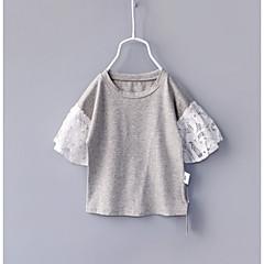 billige Babyoverdele-Baby Pige Farveblok 3/4-ærmer T-shirt