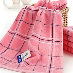 billiga Handdukar och badrockar-Överlägsen kvalitet Tvätt handduk, Rutig Polyester / Bomull Blandning / 100% bomull 1 pcs