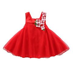 baratos Roupas de Meninas-Infantil Bébé Para Meninas Floral Sem Manga Vestido