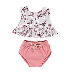 billige Tøjsæt til piger-Baby Pige Aktiv Trykt mønster Uden ærmer Bomuld Tøjsæt