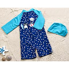 billige Badetøj til drenge-Baby Drenge Strand Ensfarvet / Prikker Badetøj
