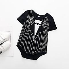billige Babytøj-Baby Unisex Stribet / Farveblok Kort Ærme En del