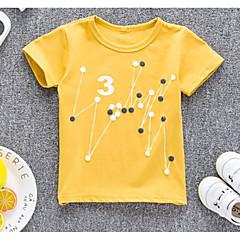 billige Pigetoppe-Baby Pige Geometrisk Kortærmet T-shirt
