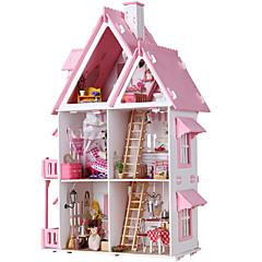 billiga Leksaker och spel-Dockhus Stor Handgjort Hus 1 pcs Bitar Barn Vuxen Flickor Leksaker Present