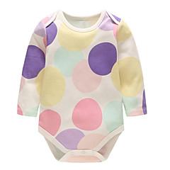 billige Babytøj-Baby Unisex Prikker / Stribet Langærmet En del
