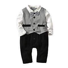 billige Tøjsæt til drenge-Baby Drenge Houndstooth mønster Kortærmet Langærmet Tøjsæt